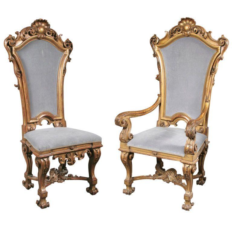 Baroque Style Dining Chairs #baroco #silla