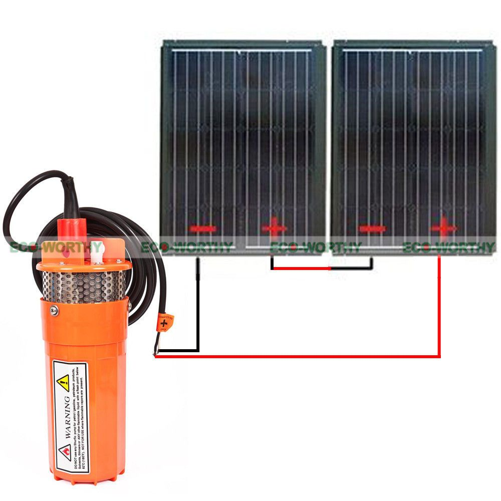 2x Eco 90w Solar Panel Module 24v Dc Solar Powered Submersible Water Well Pump Cost 200 47p P As Unit 247 If Buy Individually Pump Abou Module