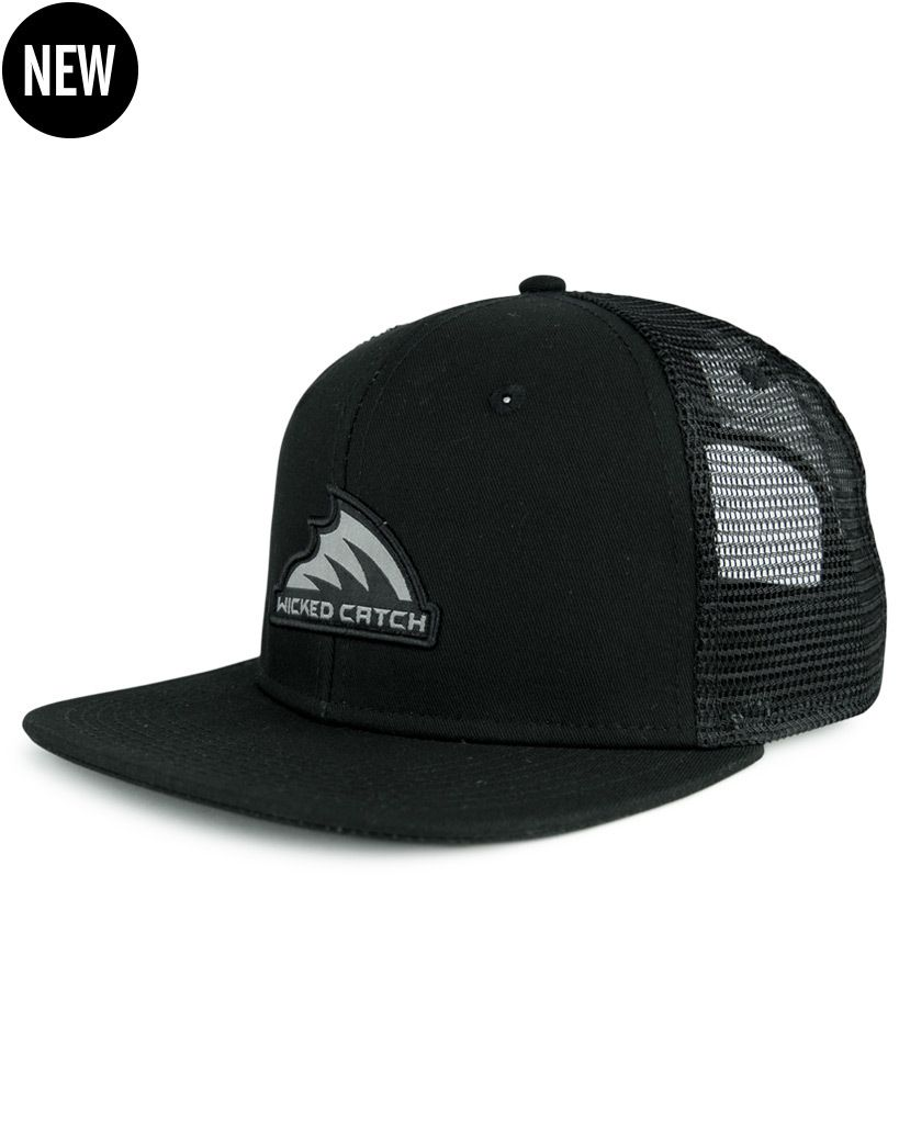 Wicked Catch Iconic Patch Trucker Fishing Hat