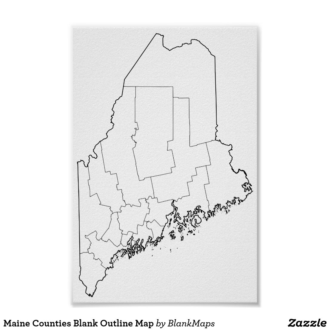 Maine Counties Blank Outline Map Blank Outline Maps Outline Map