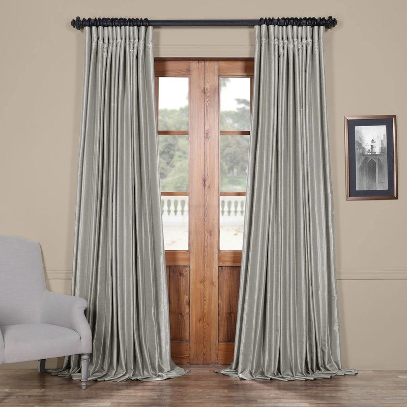Solid Blackout Thermal Rod Pocket Curtain Panels Panel Curtains
