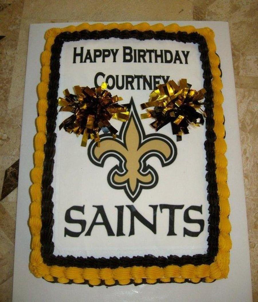 27 Best Photo Of Saints Birthday Cake New Orleans Cheerleader Cakecentral BirthdayCakeImages