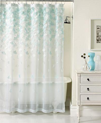 Martha Stewart Collection Falling Petals Shower Curtain Bathroom