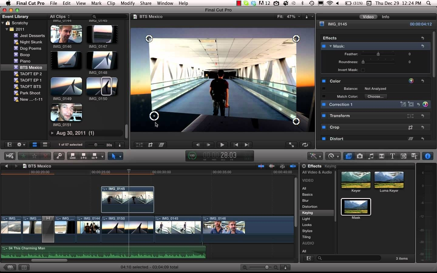 Cropping With Feather In Final Cut Pro X | The Job | Final cut pro
