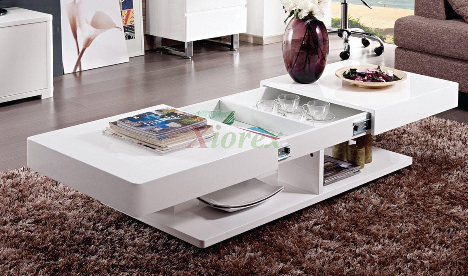 Burlington White Coffee Table Living Room Furniture  Xiorex Custom Living Room Table Review