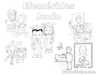 Efemérides De Junio Junio Dibujos Para Pintar Y Dibujos