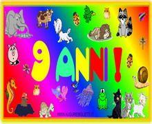 Auguri Di Buon Compleanno 9 Anni.Biglietto Di Auguri Per I 9 Anni Buon Compleanno Auguri