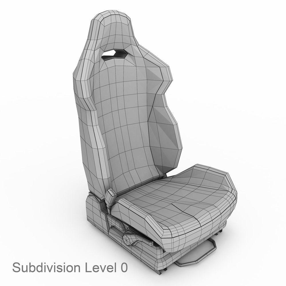 Car Seat Sti 3d Model 3d Model Model Modeling Techniques