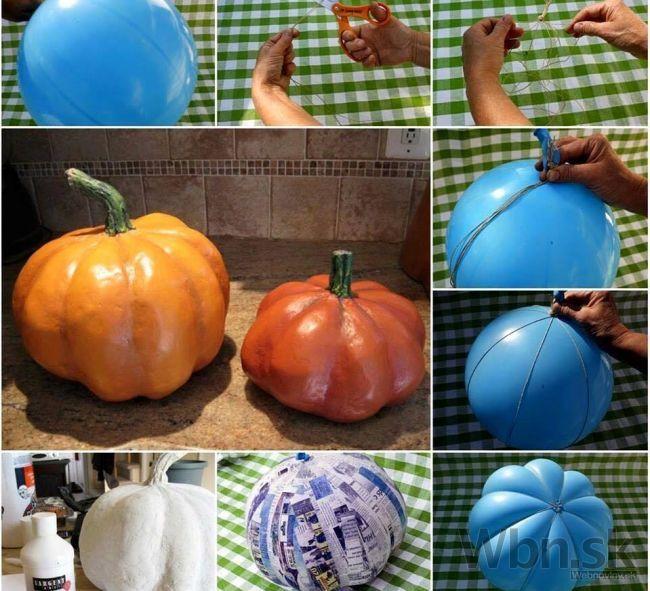 Vyrobte si tekvicu pomocou balóna