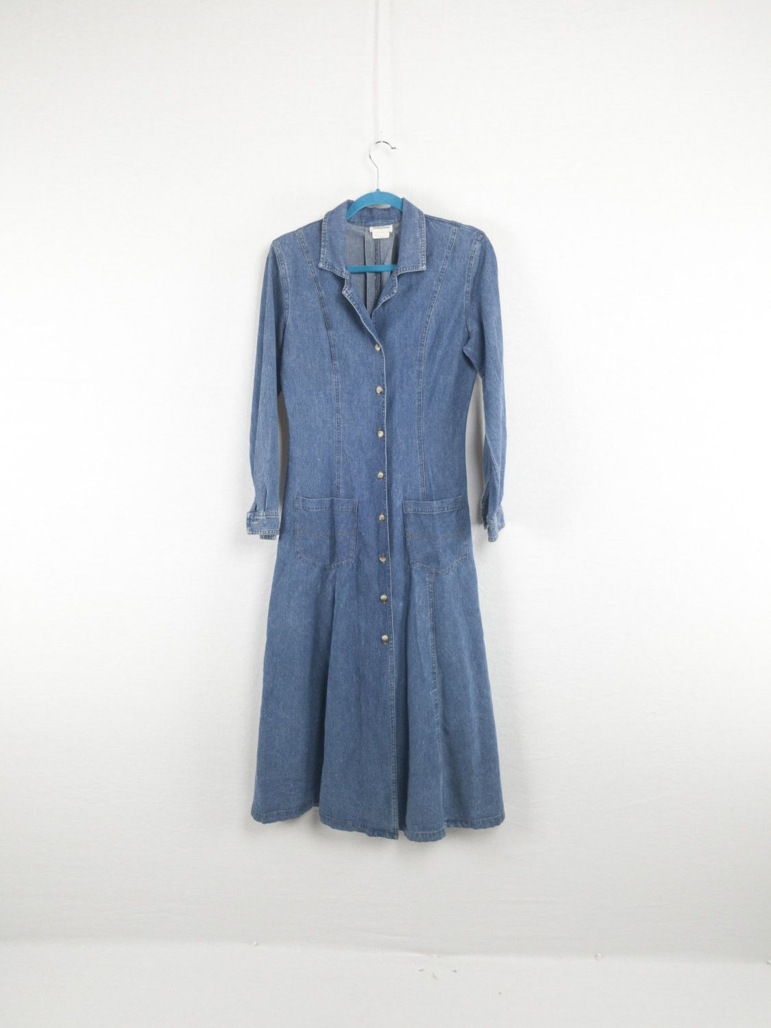 Soft denim long sleeve us maxi dress by neiman marcus products