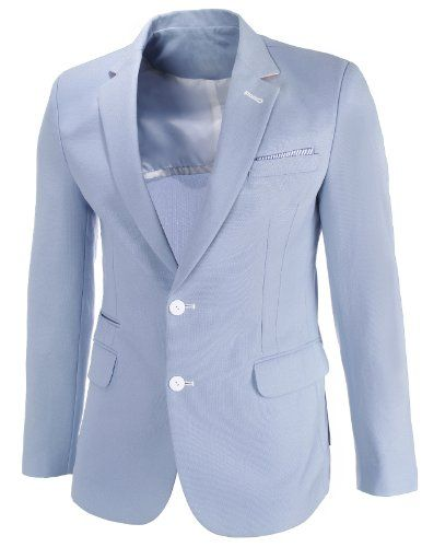 FLATSEVEN Mens Slim Fit Single Two Button Solid Long Sleeve Blazer Jacket (BJ460) Light Blue, L FLATSEVEN http://www.amazon.co.uk/dp/B00KAT23N8/ref=cm_sw_r_pi_dp_N1T4ub0EATZH7 #FLATSEVEN #Mens #SlimFit #Blazer #Jacket