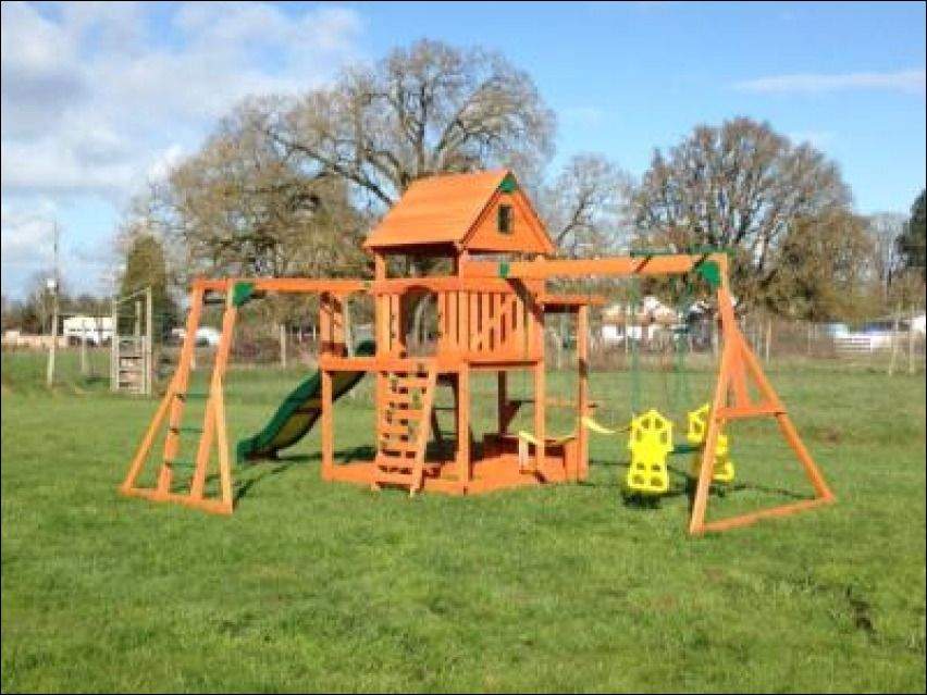 Best Entertaining Backyard Discovery Monticello All Cedar Swing Set