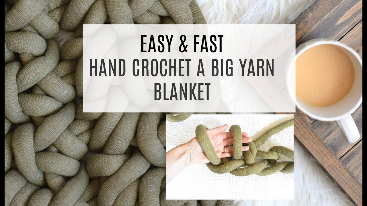 How to crochet a big yarn blanket by hand big yarn