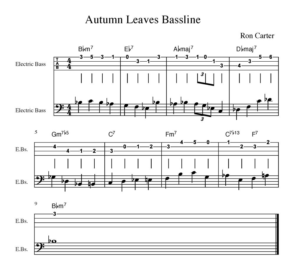 Bass Walk Of The Week Ron Carter On Chet Baker S Autumn Leaves