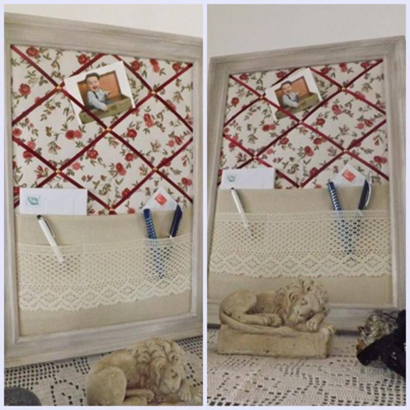 cadre pense b te range courrier porte photos objets d co calinquette fait maison. Black Bedroom Furniture Sets. Home Design Ideas