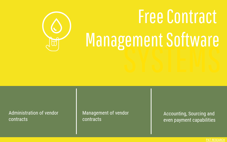 Top 3 Free Contract Management Software In 2020 Reviews Features Pricing Comparison Pat Research B2b Reviews Buying Guides Best Practices Contract Management Management Life Cycle Management
