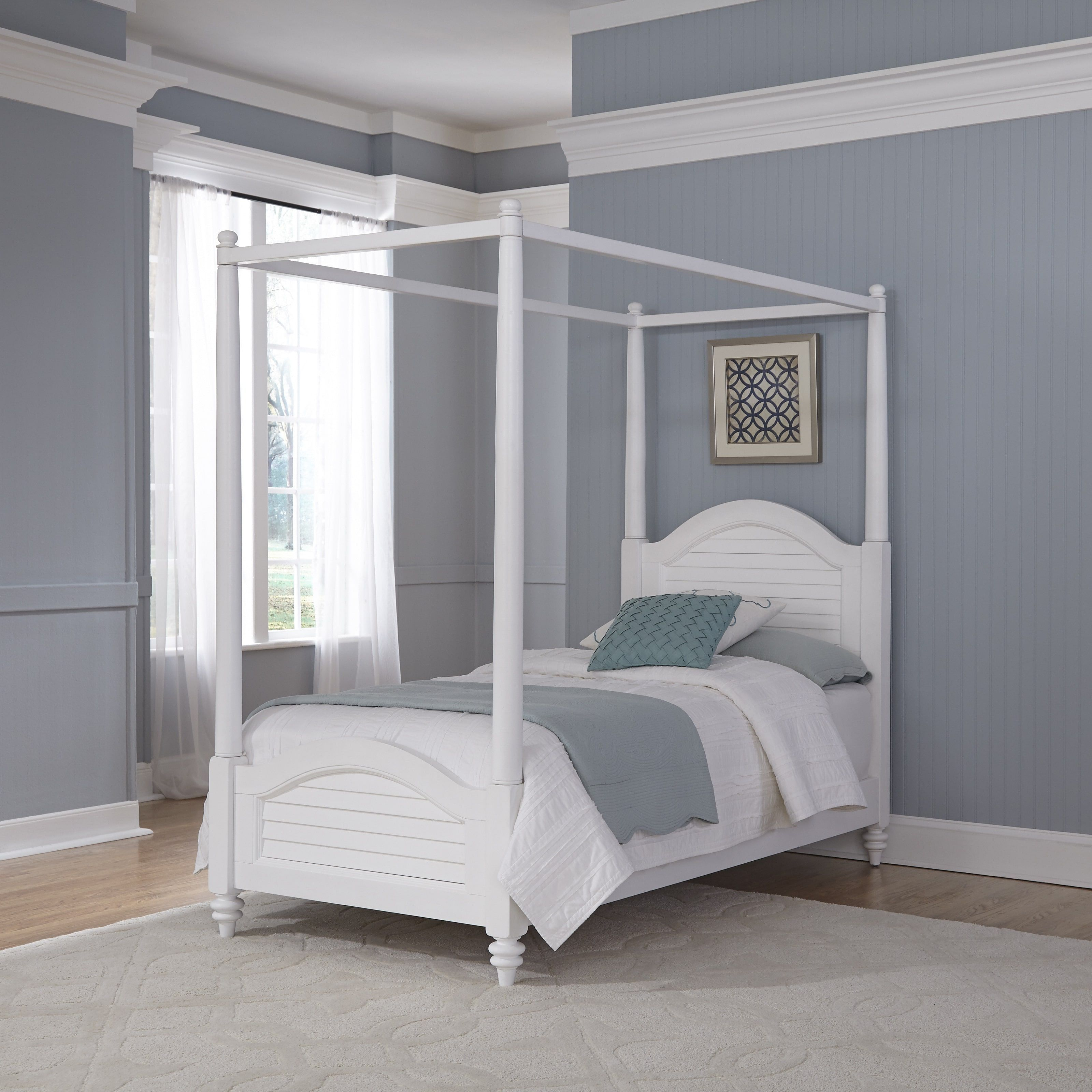 Bermuda Twin Canopy Bed by Home Styles (Espresso - Espresso Finish/Brown Finish) & Bermuda Twin Canopy Bed by Home Styles (Espresso - Espresso Finish ...