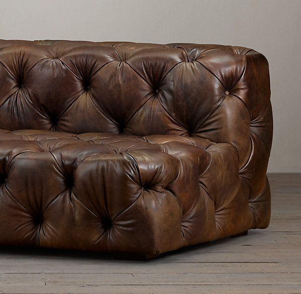 Fantastic 9 Soho Tufted Leather Armless Sofa Family Rooms In 2019 Download Free Architecture Designs Scobabritishbridgeorg