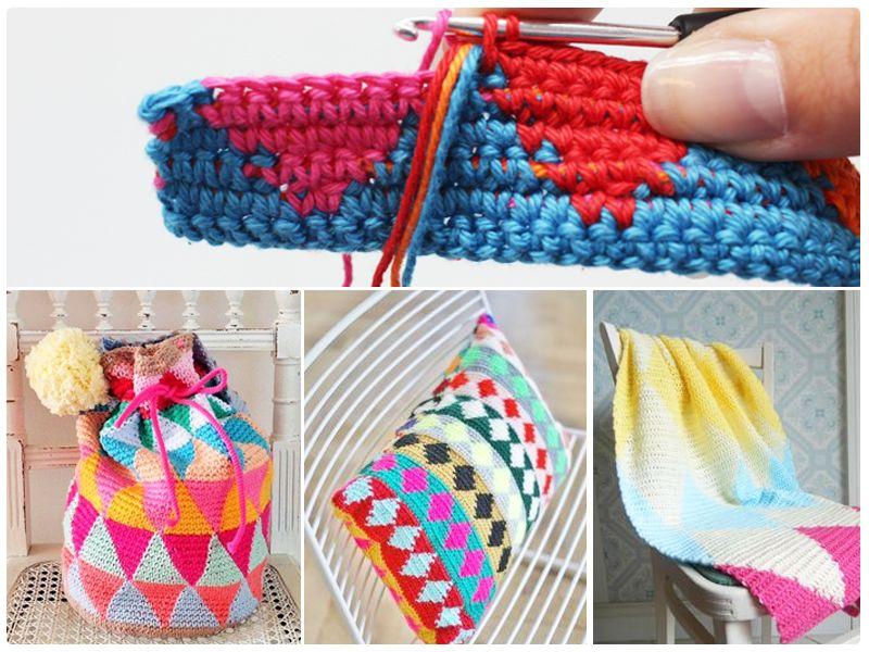 Tapestry! Wir erklären diese tolle Technik in unserem Blog. http://www.wollplatz.de/blog/tapestry-haekeln/