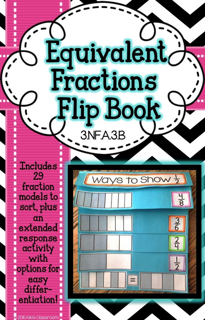 Equivalent Fractions Activity - 3rd Grade Fractions Flipbook ...