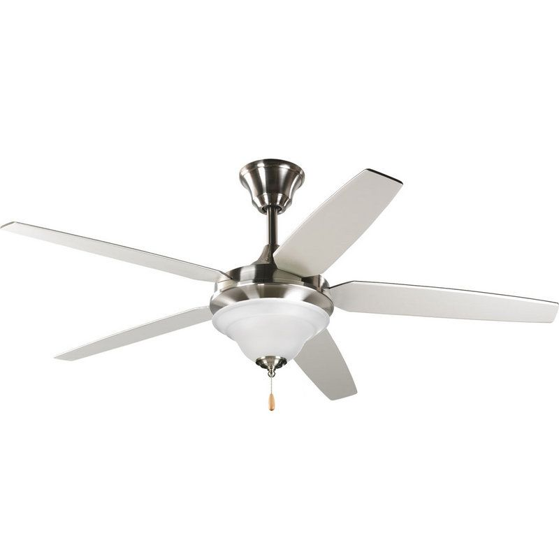 Shop for the progress lighting progress lighting brushed nickel trinity signature plus 5 blade ceiling fan blades and light kit included and save