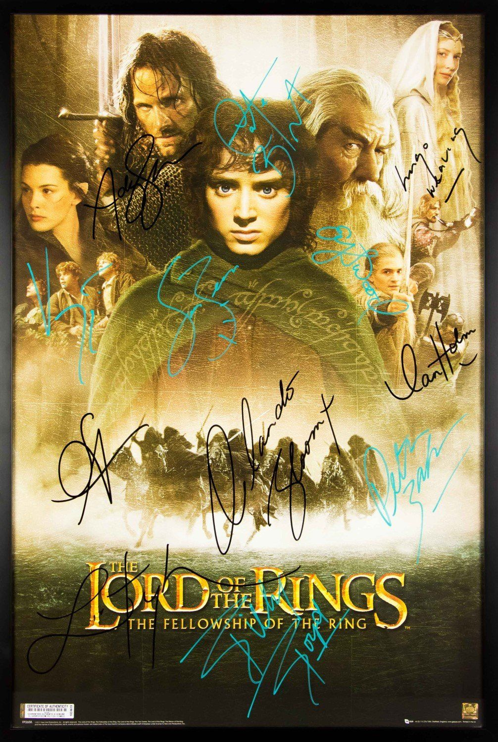 lord of the rings the fellowship of the ring signed