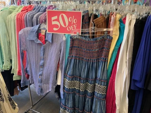 Hundreds Of Different Skirts Blouses Jackets And Pants