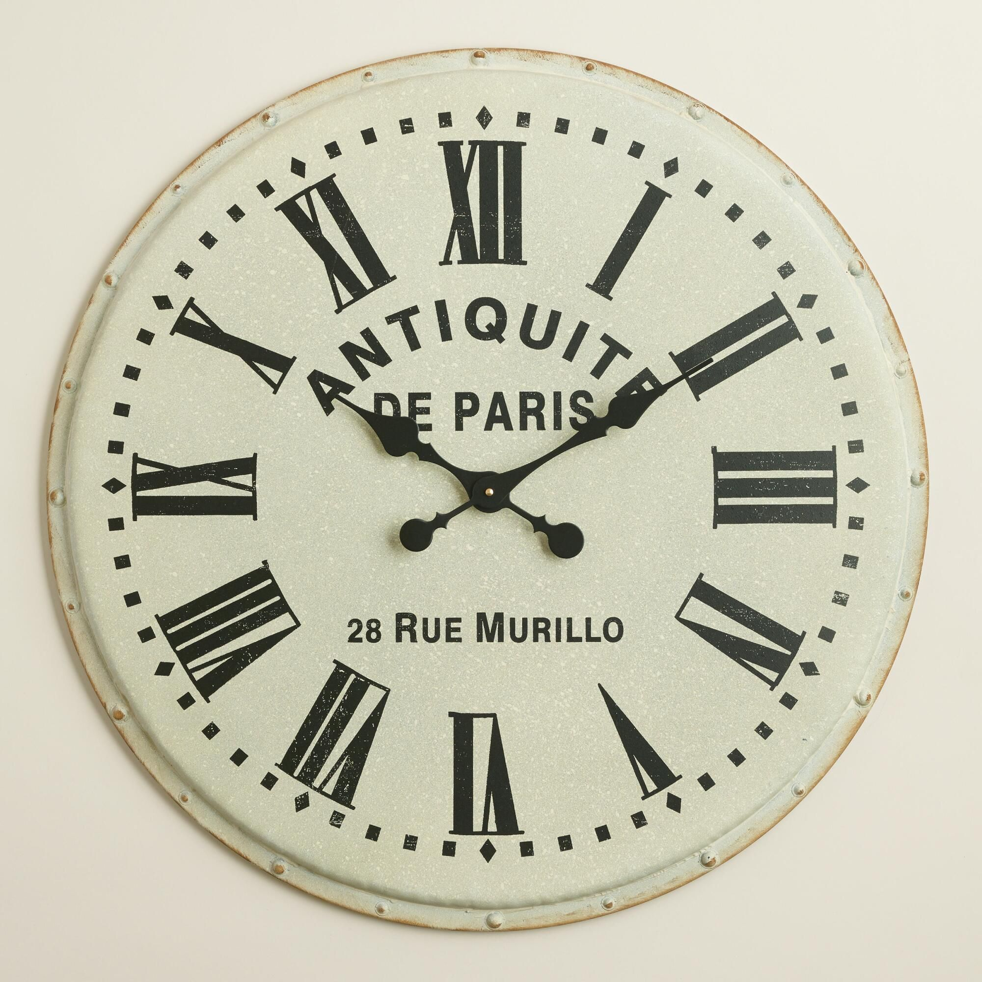 Statement Wall Clocks Our Oversized Clock Makes A Big Vintage Inspired Statement