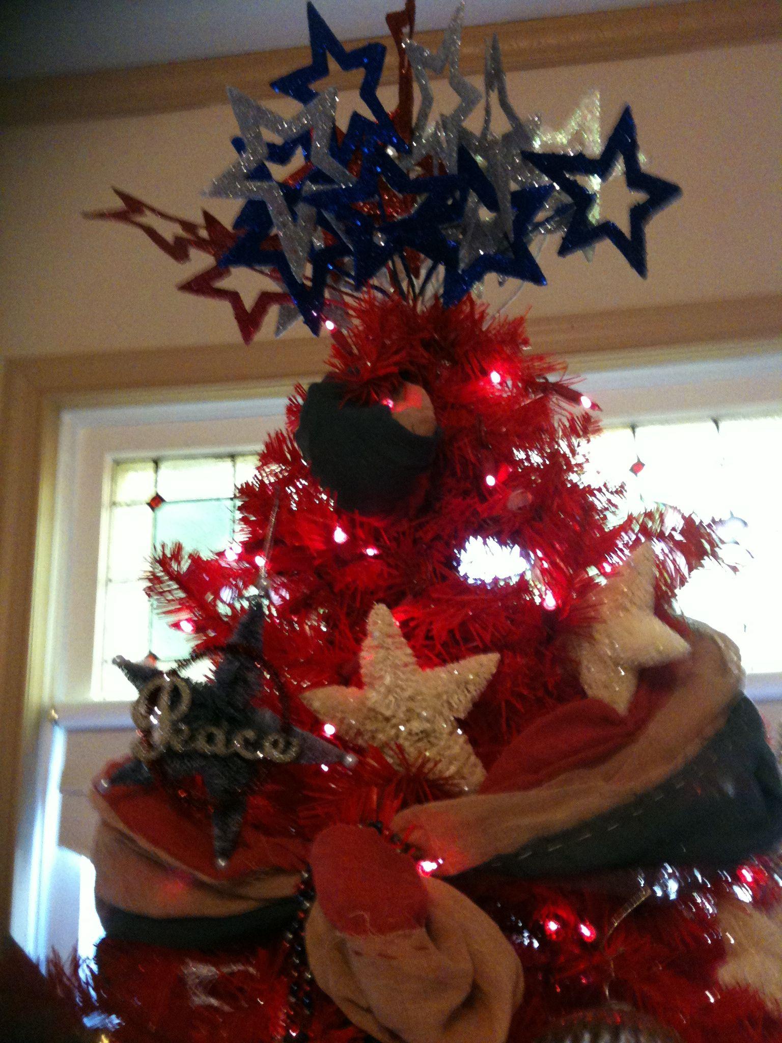 patriotic tree top | Christmas tree decorations, Christmas ...
