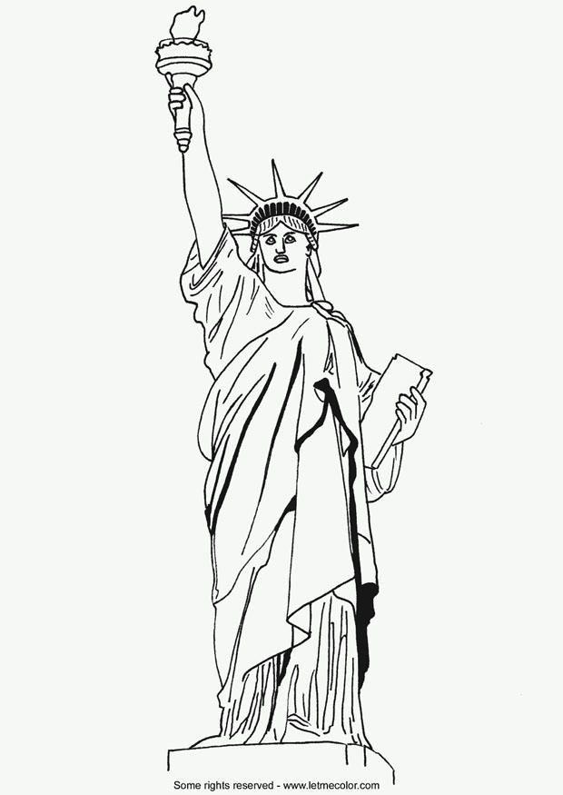 statua della liberta' disegno