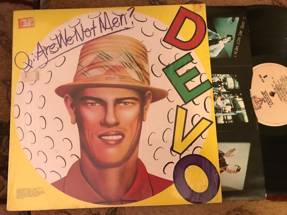 Devo Q Are We Not Men Original Vintage Vinyl Beauty In Shrink Add L Ships 1 Are We Not Men Men Vinyl