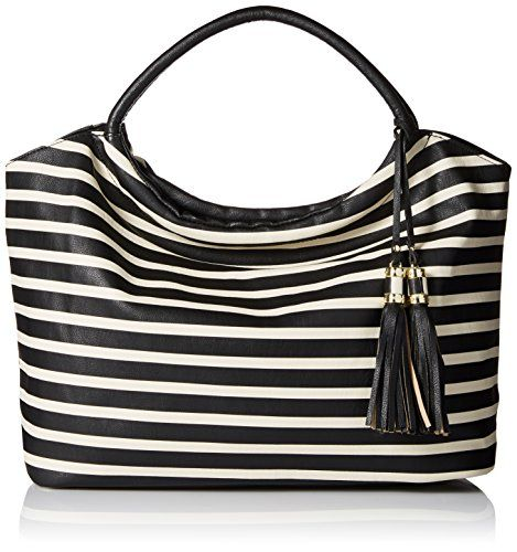 DEL MANO Striped Shoulder Bag with Tassels | Tassels, Stripes and Bags