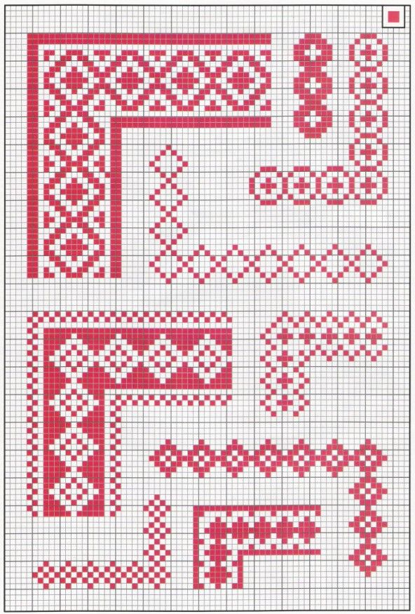 1. simple border made of diamond outlines.... to the lower right of ...