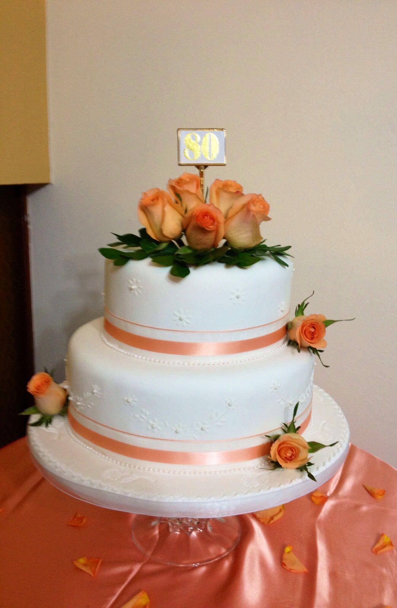 Felices 80 años cumplidos | Torta para fiesta, Tortas