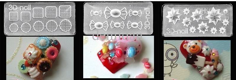 Whosale 83 Designs Acrylic Gel Nails 3d Nail Art Mold Diy Nail Art