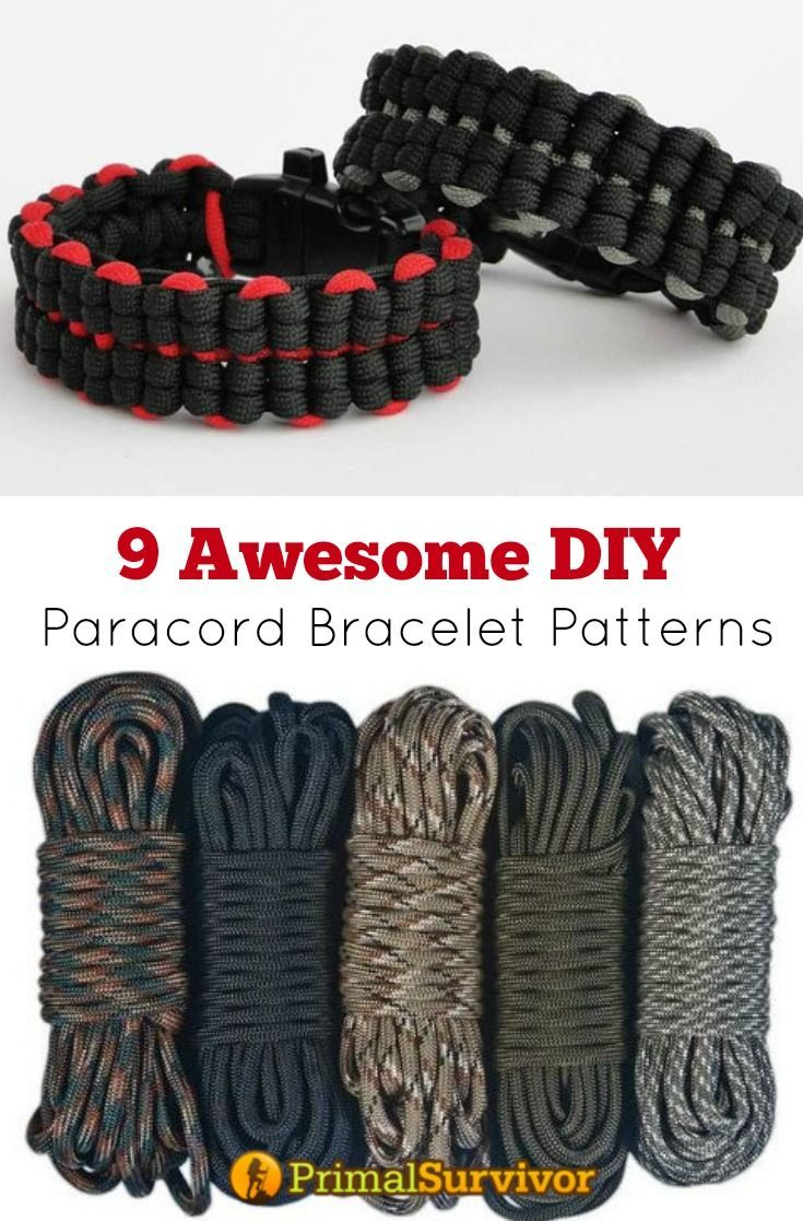 17 Awesome Diy Paracord Bracelet Patterns With Instructions Paracord Armbander Diy Paracord Armband Paracord