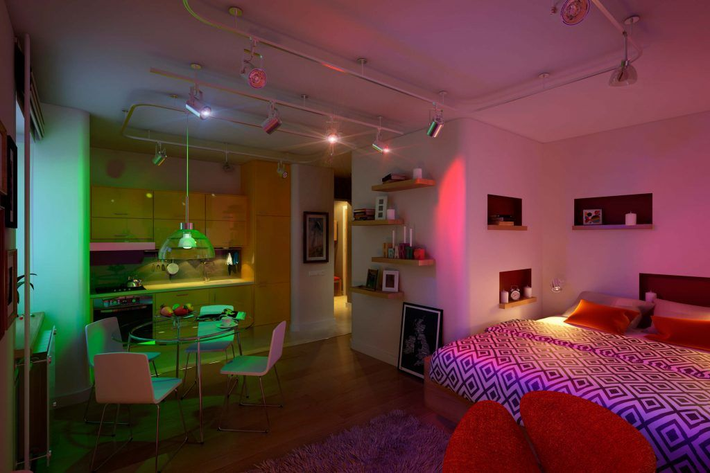 Welcome to a cheerful small apartment envisioned by geometrium and located in lensovetovskij a village near saint petersburg russia