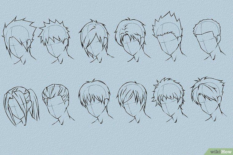 Draw Anime Hair Anime Haare Haare Zeichnen Und Manga Frisuren