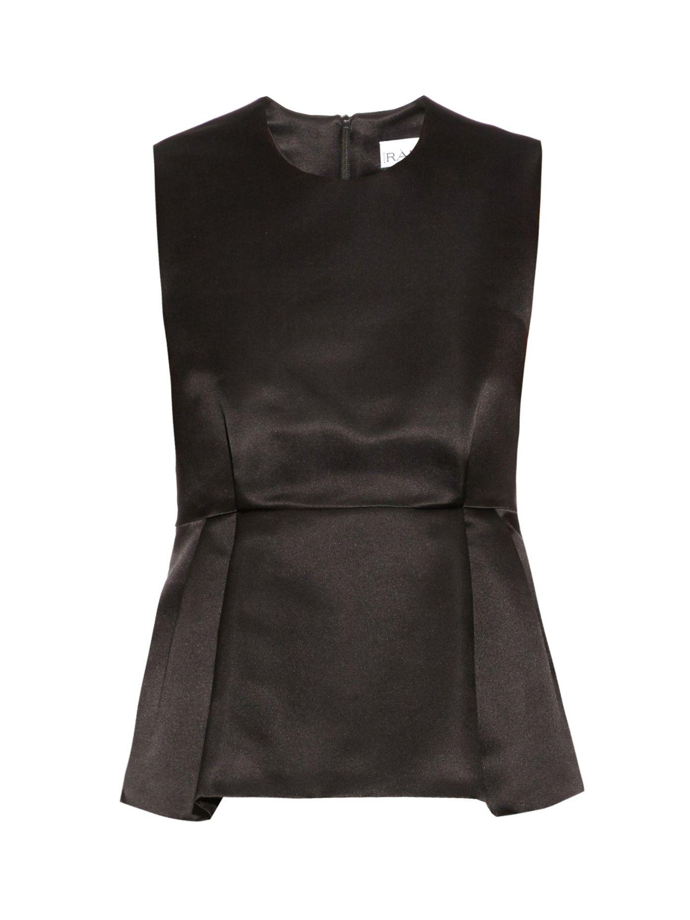 Badydoll duchess silk-satin top by Raey | Shop now at #MATCHESFASHION