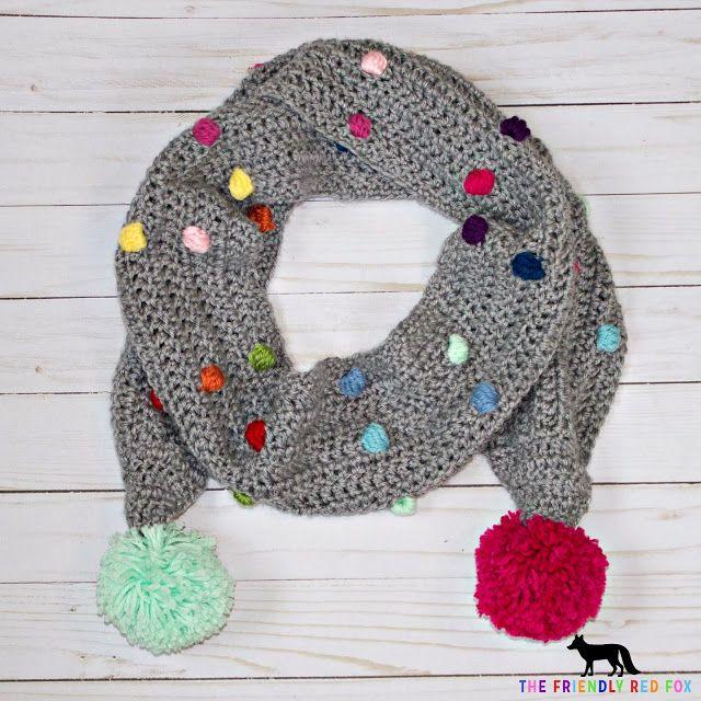Free Crochet Pattern Confetti Scarf With Bobble Stitch Crochet
