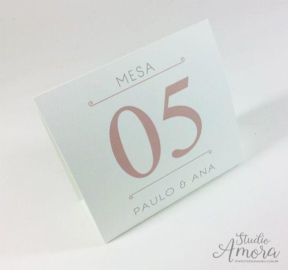 Plaquinha numeração de mesa