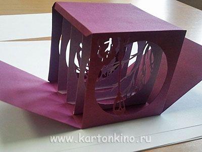 Новогодний сюрприз. Куб-туннель «Сиреневый вечер»