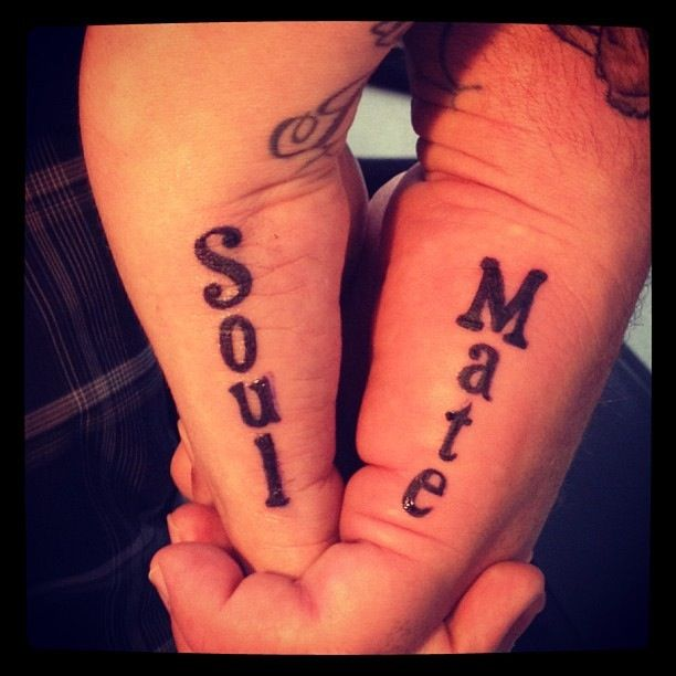 Couples tattoo w my love my soul mate my style pinterest for Matching tattoos for couples in love