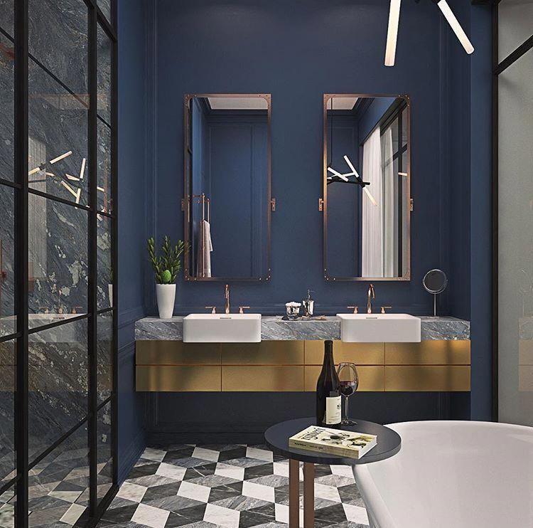 Navy Bathroom Ideas Gold Bathroom Decor Washroom Design Navy Bathroom Decor