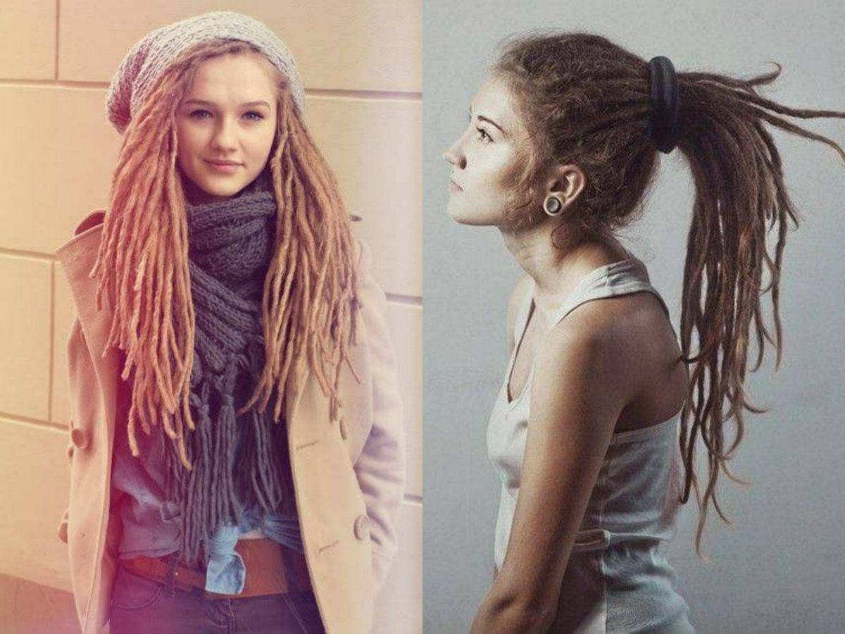 Dreadlocks For White Girls Dread Hairstyles Hair Styles Female Dreads