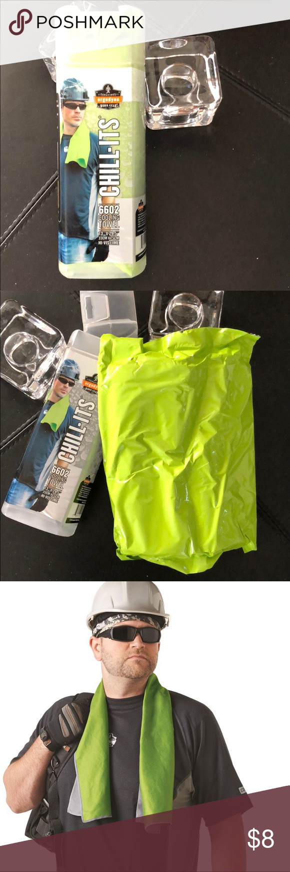 Ergodyne Chill Its Evaporative Cooling Towel Hivis Nwt Cooling