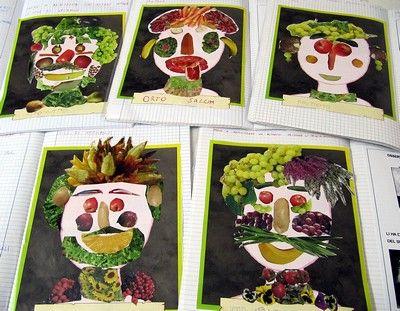 Collage Bambini ~ Laboratori artistici per bambini con la frutta labs craft and