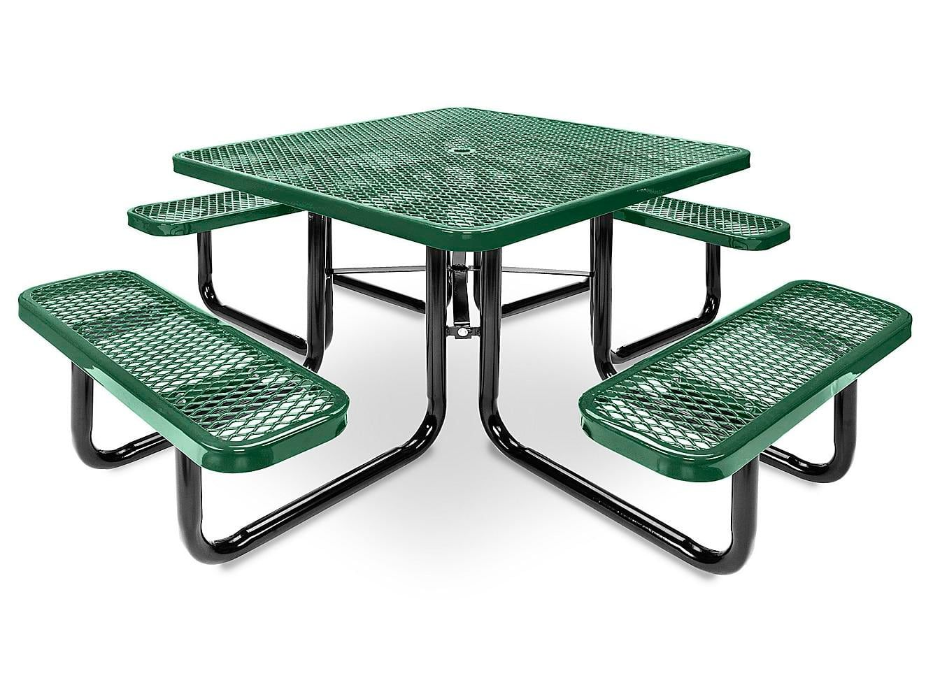 Metal Picnic Table 46 Square Green H 2126g Uline In 2020