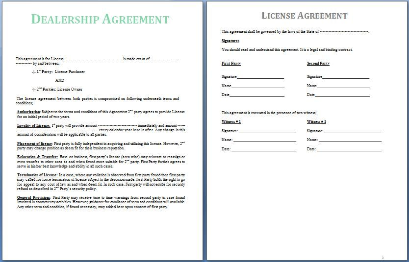 A Dealership Agreement Is Signed Between Two Parties The Supplier