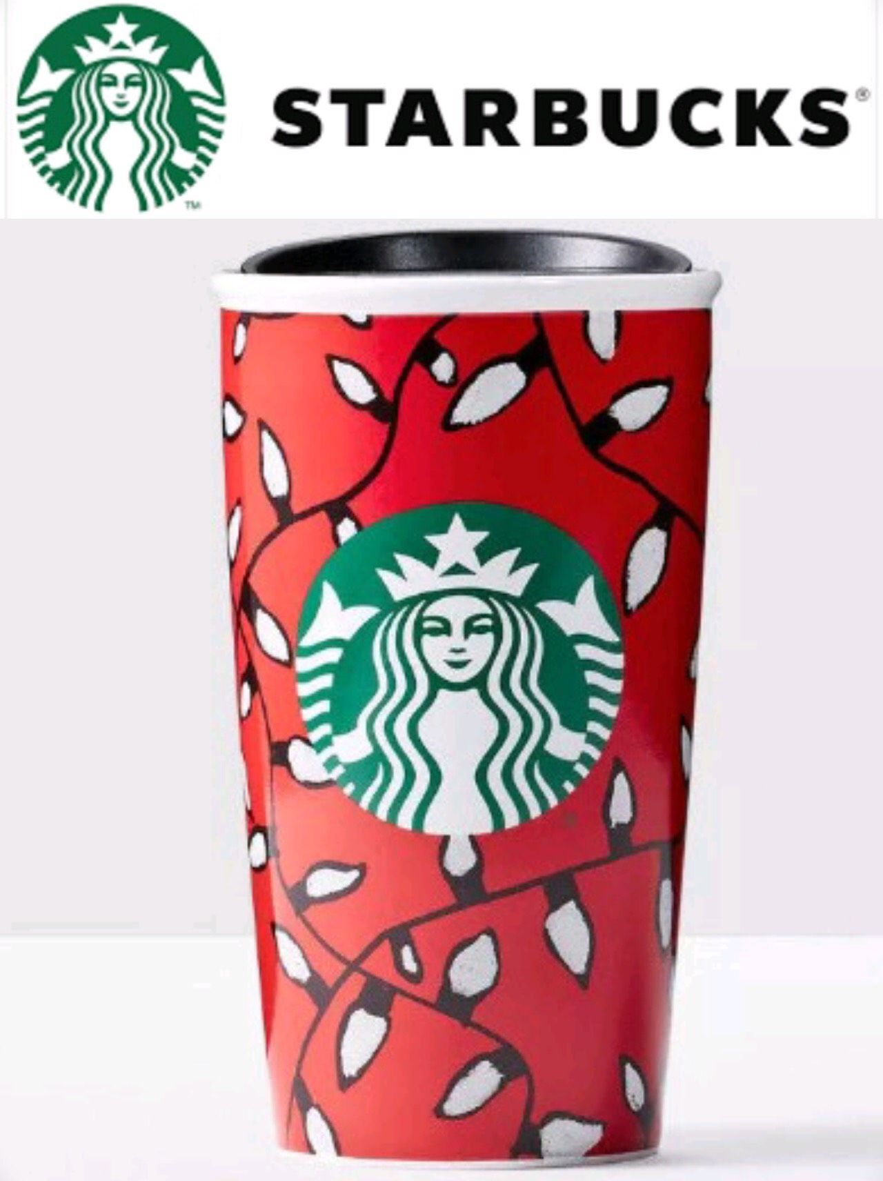 New without box. 2016 STARBUCKS Red ceramic double wall